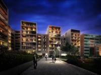 Nový byt  4+kk o výměře 111m2 + 44,4m2 terasa + 8,7m2 lodžie, Praha - Karlín.