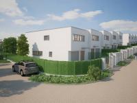 Rodinný cihlový řadový dům, krajní S 4+kk o ploše 138,7m2 + garáž na pozemku 290,1m2.