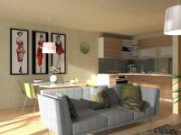 Rodinný cihlový řadový dům, krajní 4+kk s garáží, o ploše 141,7m2,  na pozemku 305,9m2.