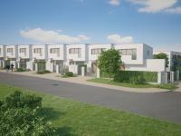 Rodinný cihlový řadový dům, 4+kk o ploše 135,7m2 + garáž na pozemku 185,8m2.