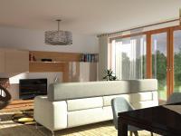 Rodinný cihlový řadový dům 4+kk s balkonem a garáží na ploše 155,6m2, na pozemku 208,4m2.