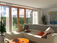 Rodinný cihlový řadový dům, krajní 4+kk o ploše 140,3m2 + 12,2m2 balkon + garáž na pozemku 332,2m2.