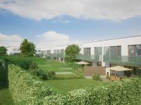 Moderní rodinný cihlový dvojdům 5+kk o ploše 156,5m2 + 16,7m2 balkon + garáž na pozemku 382,5m2.