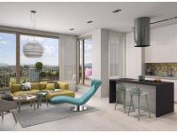 Novostavba 1+kk o ploše 38,7m2 + balkon 8,7m2 s garážovým stáním, sklepem a orientací na západ.