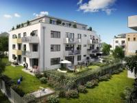 Nový byt 3+kk o ploše 83,5m2 + 7,4m2 terasa + 3,3m2 terasa + 49,4m2 zahrada + 134,5m2 zahrada.