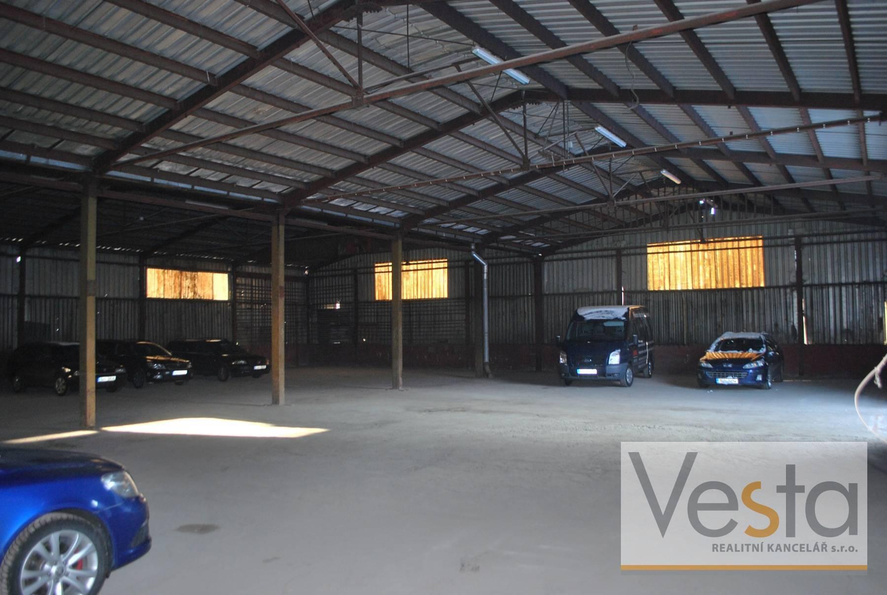 Pronájem nezateplené skladovací haly 550 m2