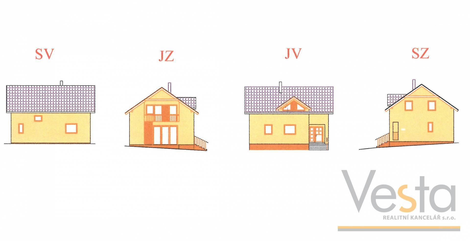 Rozestavěný rodinný dům + domek 2+KK, zahrada