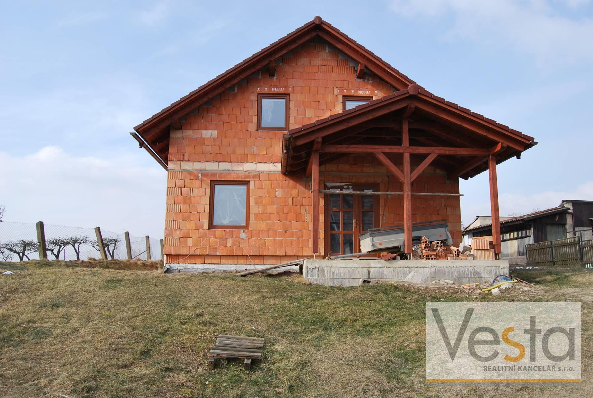 Rozestavěný rodinný dům v Bohuslavicích