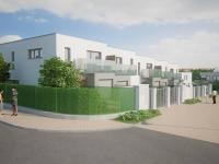 Rodinný cihlový řadový dům, krajní 4+kk o ploše 141,4m2 + 12,2m2 balkon + garáž na pozemku 302,6m2.