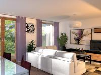 Moderní rodinný cihlový dvojdům 5+kk o ploše 156,4m2 + 16,7m2 balkon + garáž na pozemku 406,9m2.