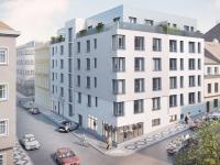Nový ateliér 1+kk o ploše 45,79m2 + 22,1m2 terasa na rozhraní Smíchova a Radlic.