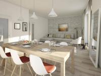 Nový byt 2+kk o ploše 51,7m2 + 7,5m2 balkon na rozhraní Smíchova a Radlic.