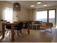 Nový 3+kk o ploše 87,9m2 + 2x balkon 14,4m2 s výhledem k Vltavě a JZ orientací.