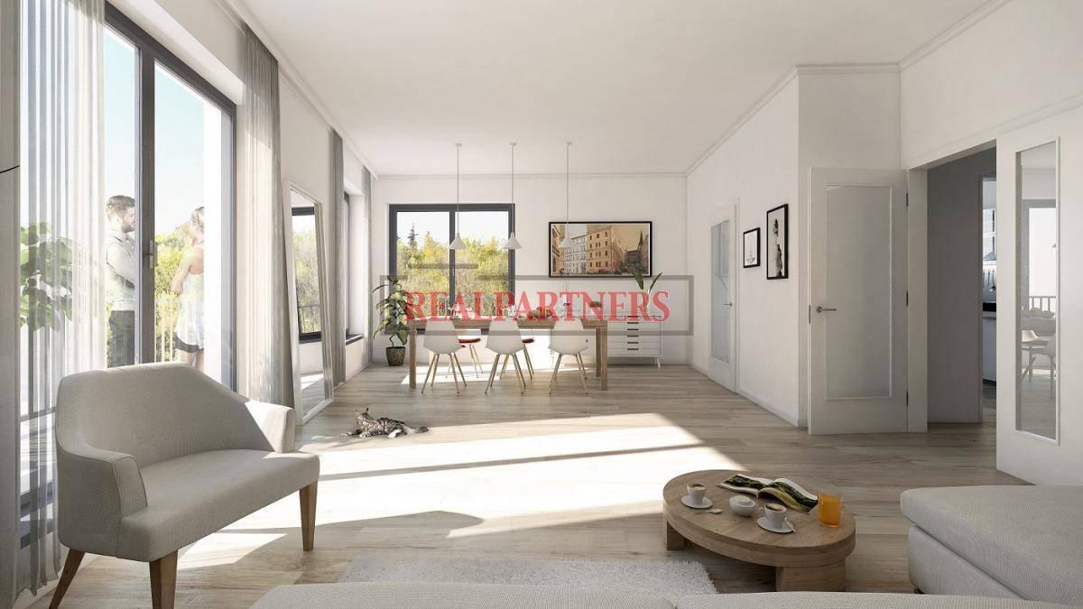 Nový byt 1+kk o ploše 43,47m² na rozhraní Smíchova a Radlic.