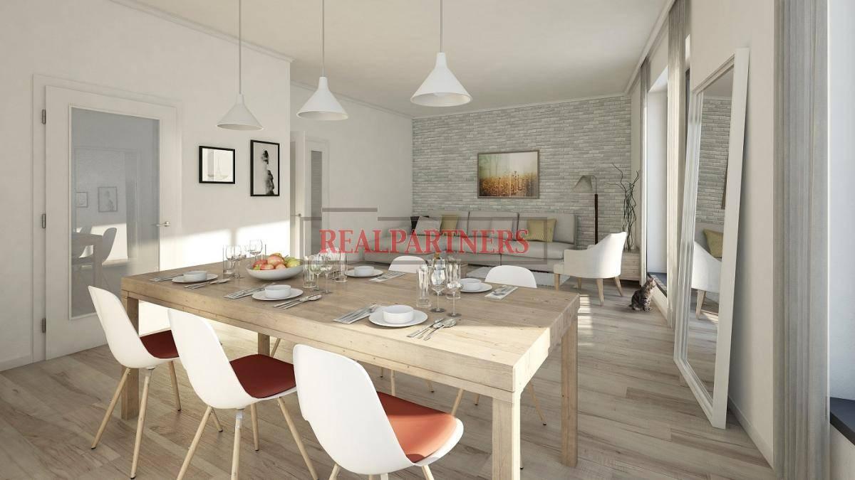 Nový byt 2+kk o ploše 47,82m² + 6,6m² balkon na rozhraní Smíchova a Radlic.