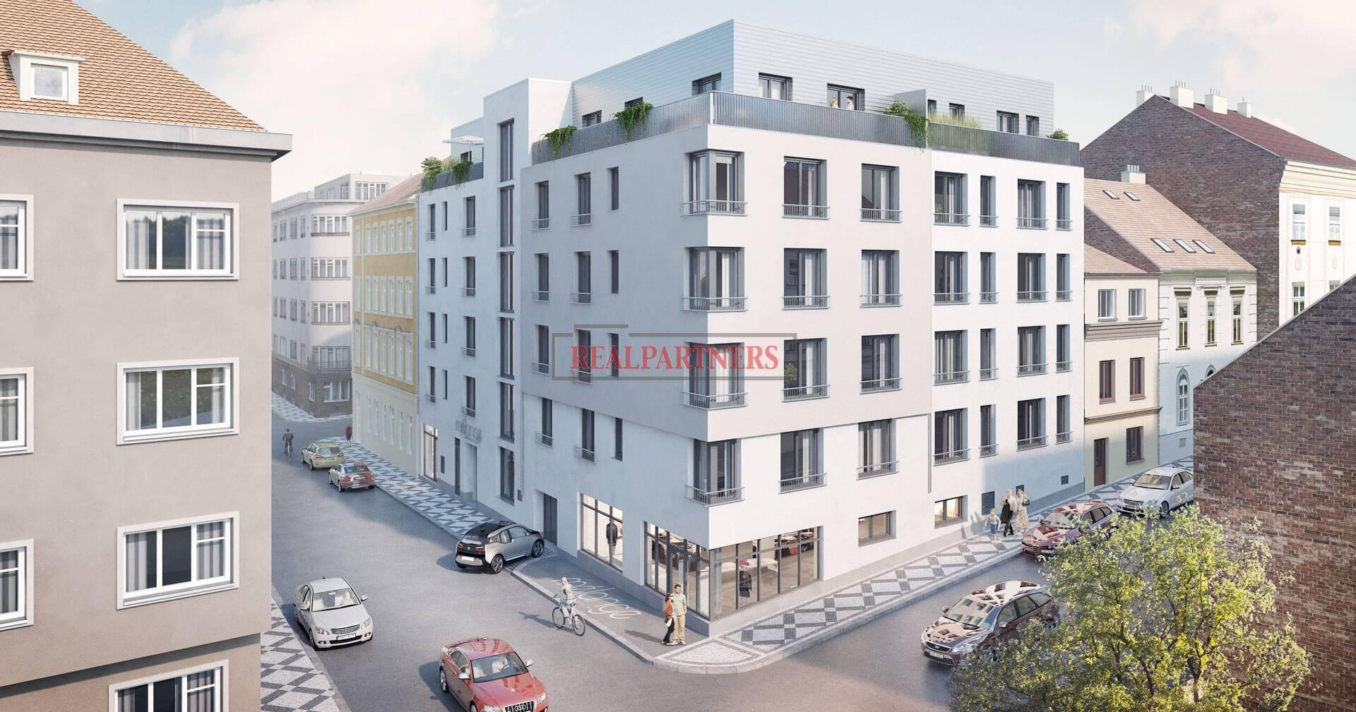 Nový byt 2+kk o ploše 52,52m² na rozhraní Smíchova a Radlic.