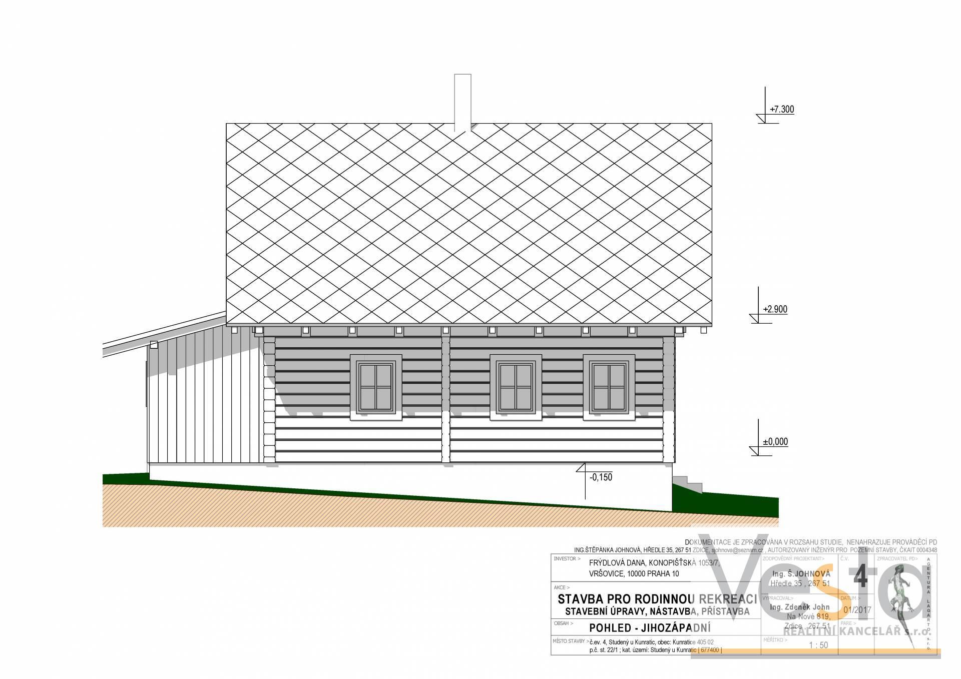 Pozemek s vydaným stavebním povolení  pro výstavbu dřevostavby RD